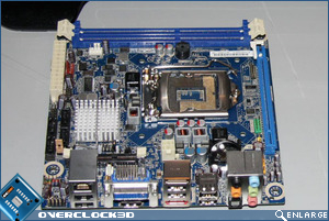 Intel H57 Mini ITX Motherboard Backplate