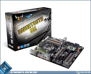 ASUS' TUF Series Sabertooth 55i Motherboard Box
