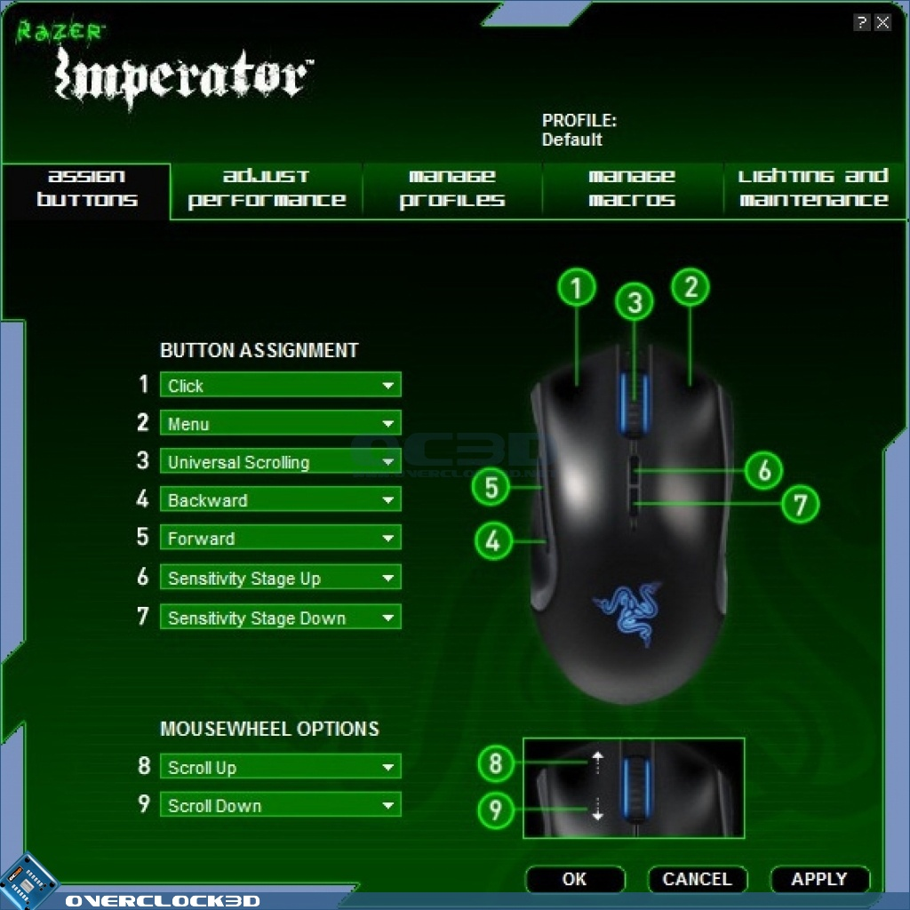 Razer Imperator Gaming Mouse Review Software Input Devices OC3D Review