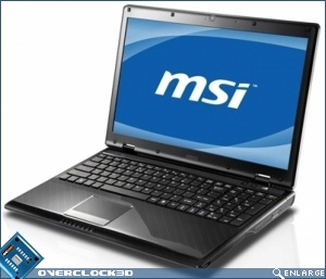 MSI Unveils CX620 3D Notebook