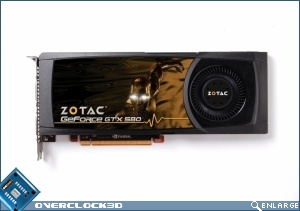 The ZOTAC GeForce GTX 580 Direct X 11 card