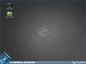 Julia Linux Mint 10 Home Screen