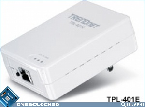 TRENDnet 500Mbps Powerline AV Adapters TPL-401E
