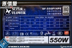 Super Flower 80 Plus Platinum Rated PSU SF-550P14PE