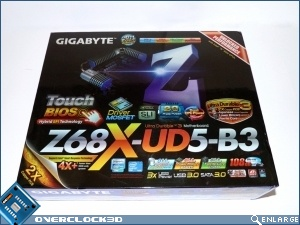 Gigabyte Z68X UD5 B3 Review Box Front