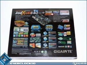 Gigabyte Z68X UD5 B3 Review Box Back