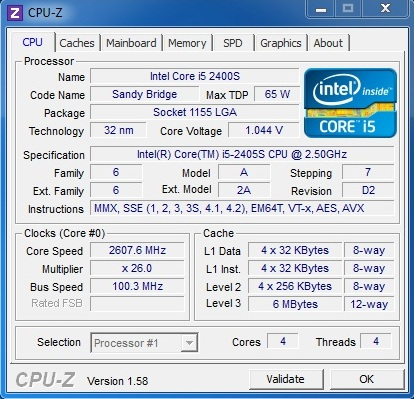 Intel Core i5-2405S Review