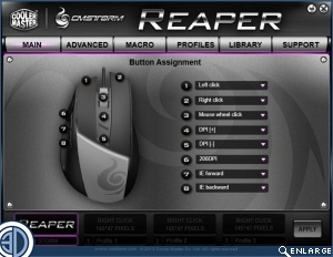 CM Storm Reaper Gaming Mouse Software