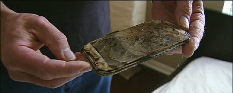 Samsung Phone fire in Childs bed