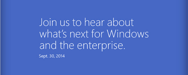 Microsoft Windows 9 event later this month!
