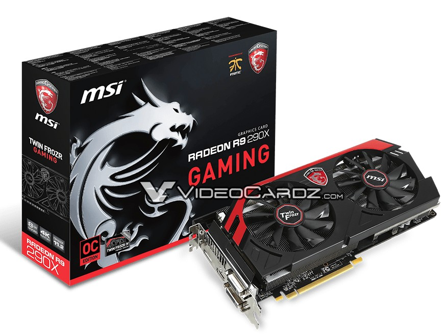 MSI 8GB R9 290X pictured