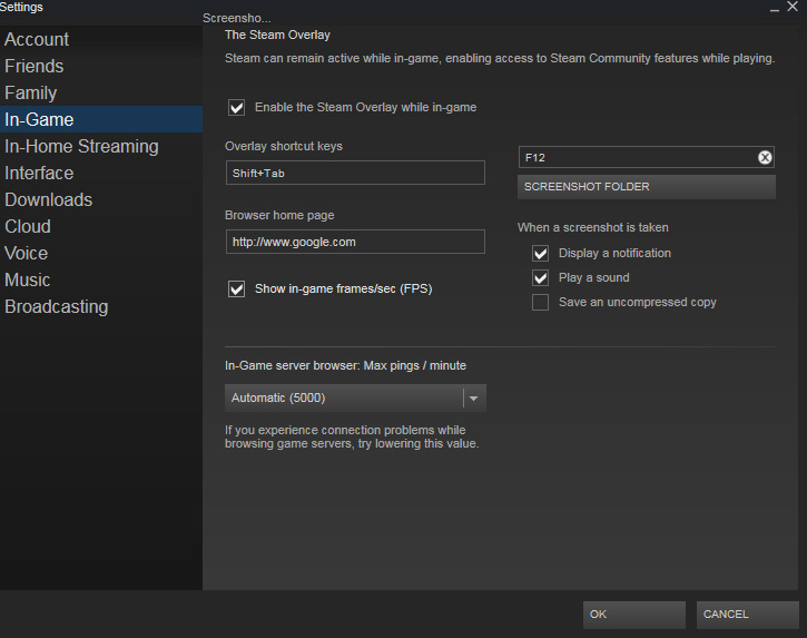 Steam Adds an FPS Counter