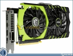 MSI GeForce GTX 960 GAMING Pictured