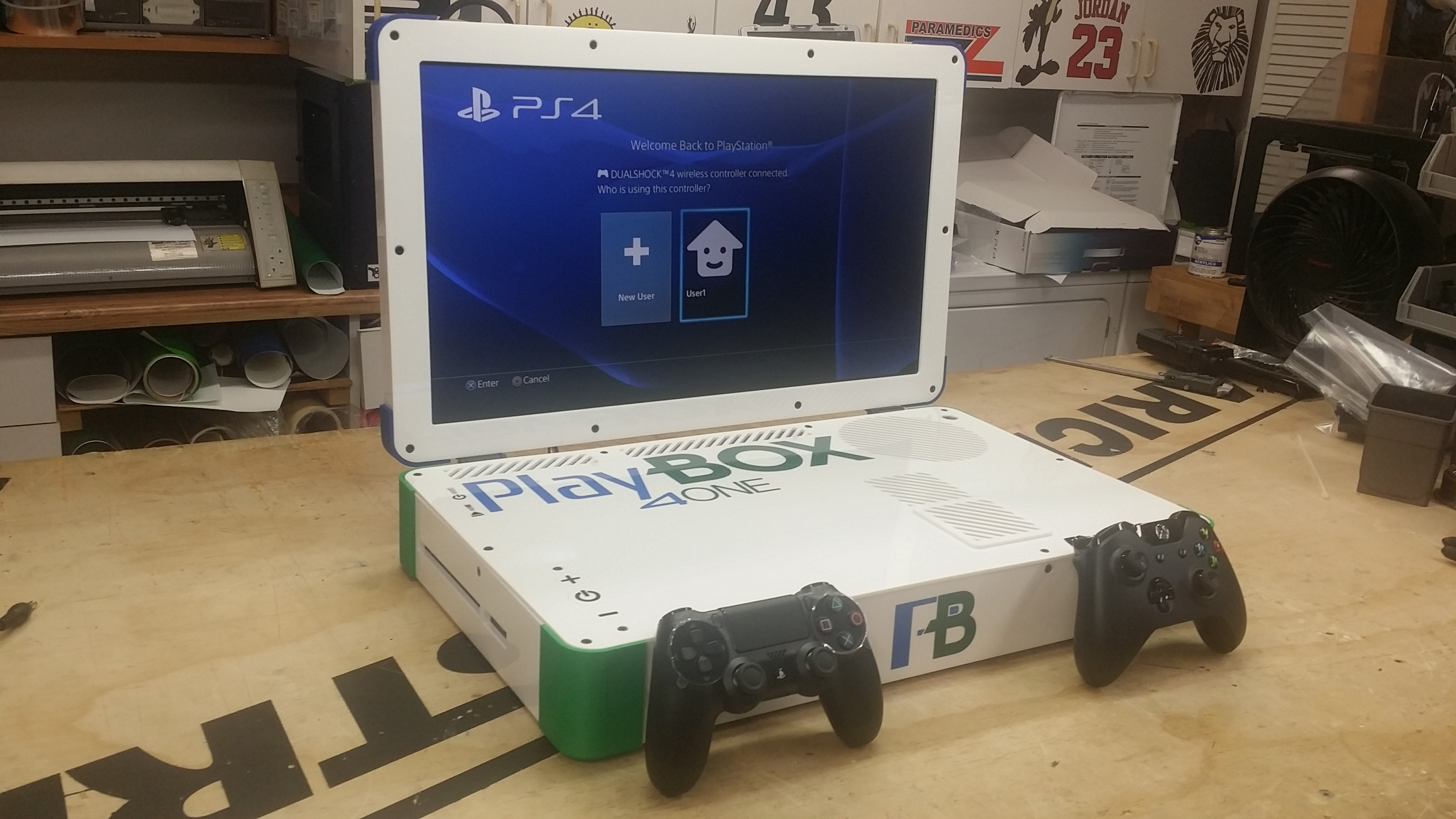 Modder Creates PS4 Xbox One Hybrid the size of a laptop