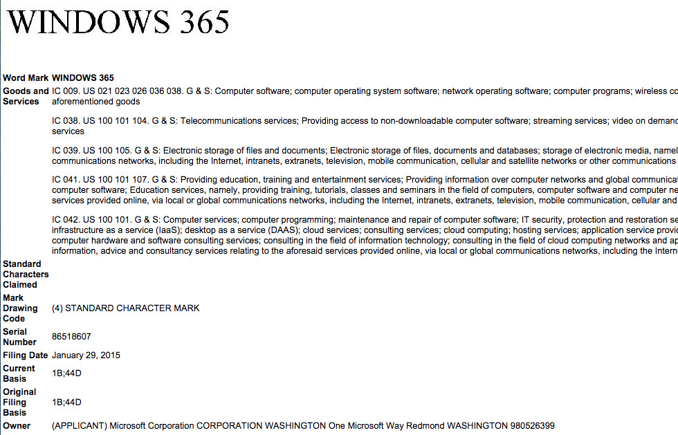 Microsoft Trademarks Windows 365 - Another Version of Windows 10?