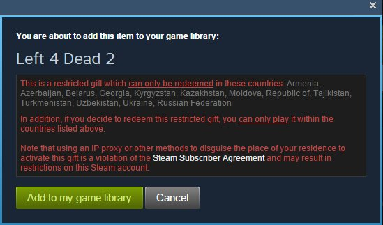More Regional Restrictions come to Steam