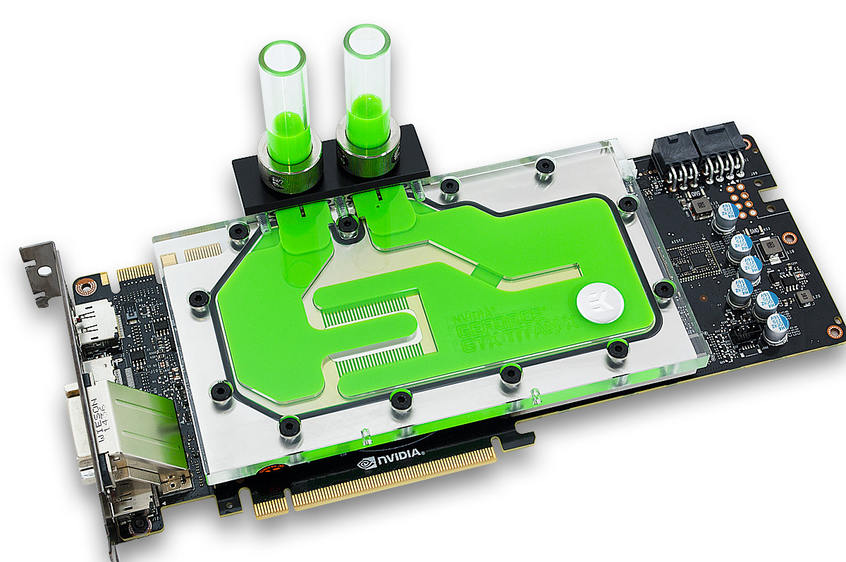 EK Releases GeForce GTX TITAN X Water Blocks