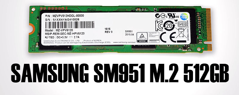 Samsung SM951 512GB M.2 Review