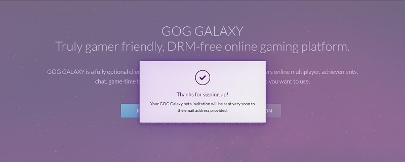 GOG Galaxy now in Open Beta