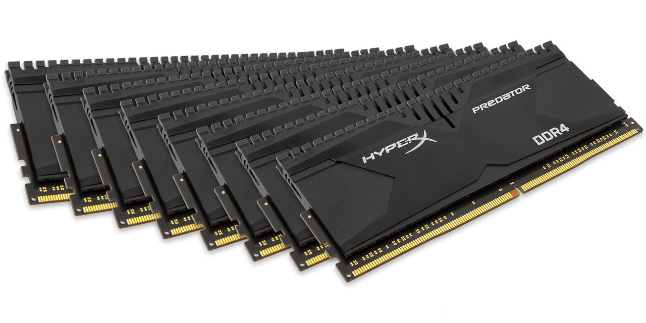 Kingston HyperX Achieves Fastest 128GB DDR4 Memory Kit