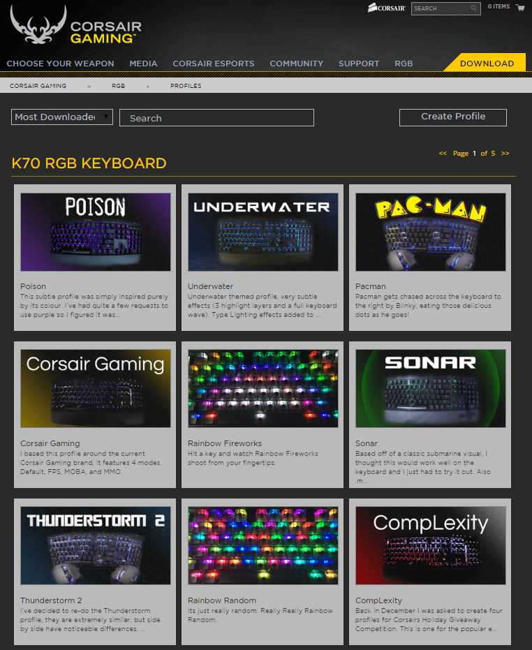 Corsair Adds RGB Keyboard Profile Sharing to Corsair Gaming