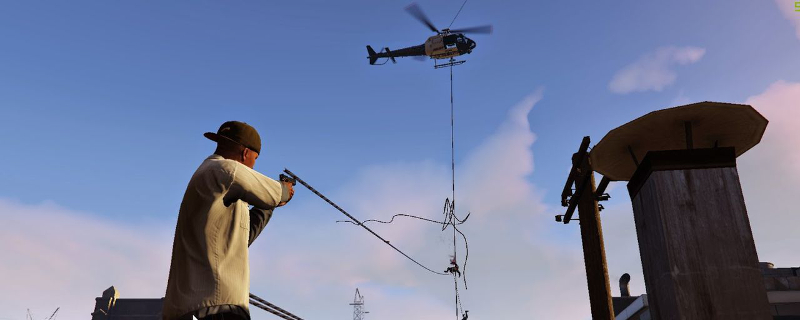 GTA 5 mod adds Just Cause 2 grappling hook