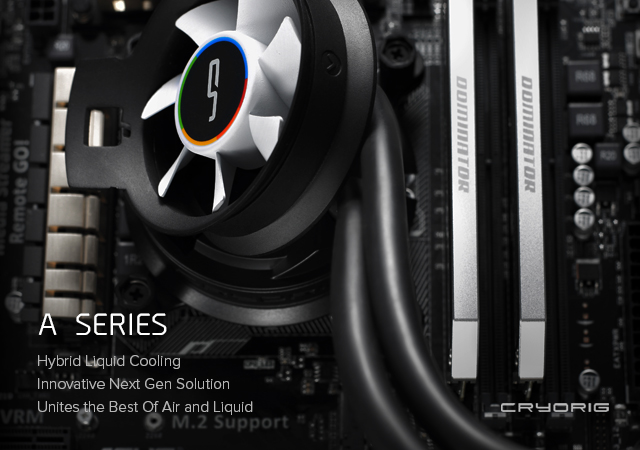 CRYORIG unveils A-Series AIO coolers and Pi-Series PSUs