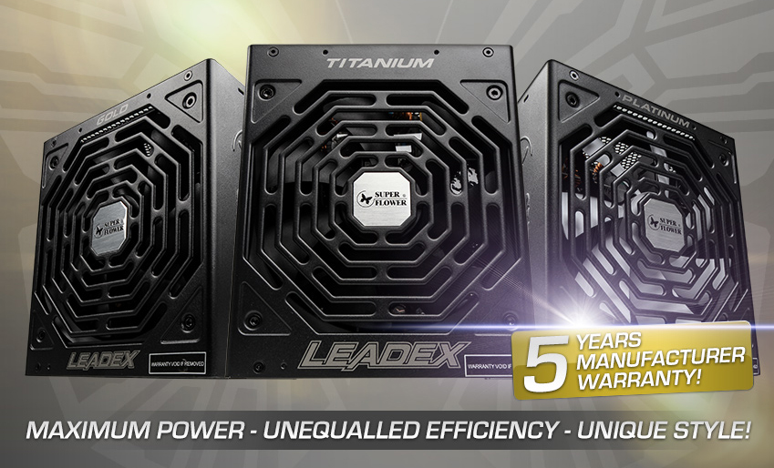 Overclockers have expanded their range of Gold, Platinum and Titanium PSUs from Superflower