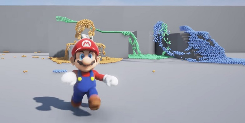 Super Mario Nvidia Flex Demo in Unreal Engine 4