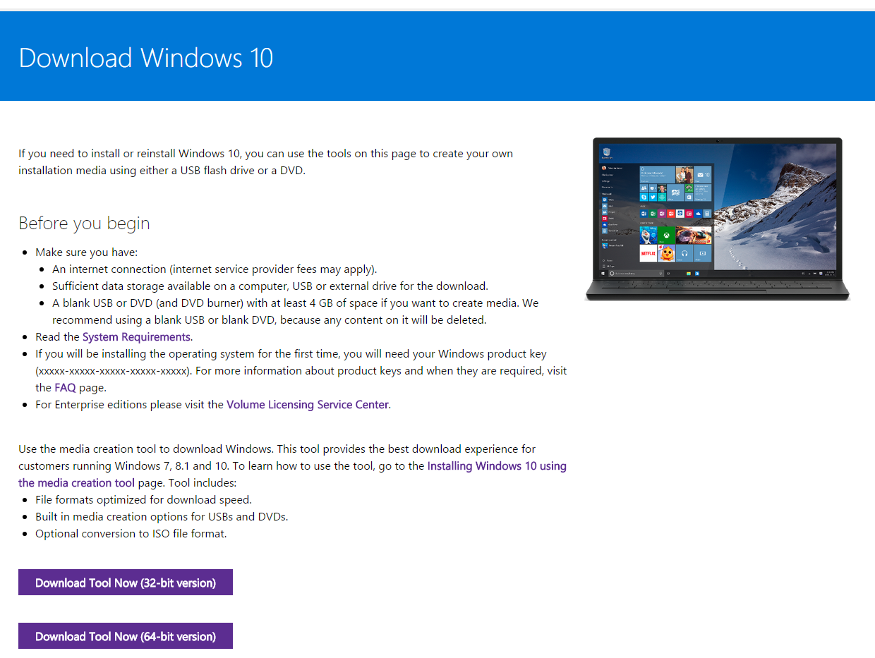You can download Windows 10 here