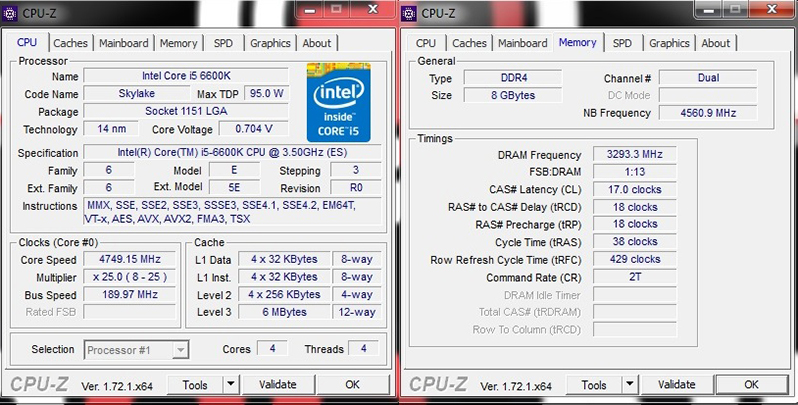 Intel Skylake i5-6600K and i7-6700K Review