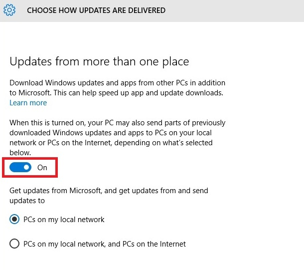 How to prevent Windows 10 from using your Bandwidth