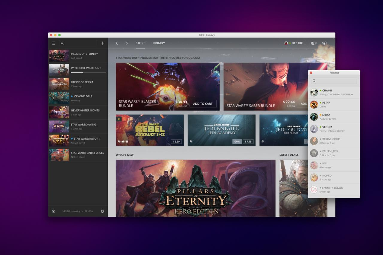 GOG Galaxy Update Introduces Patch Rollback Option