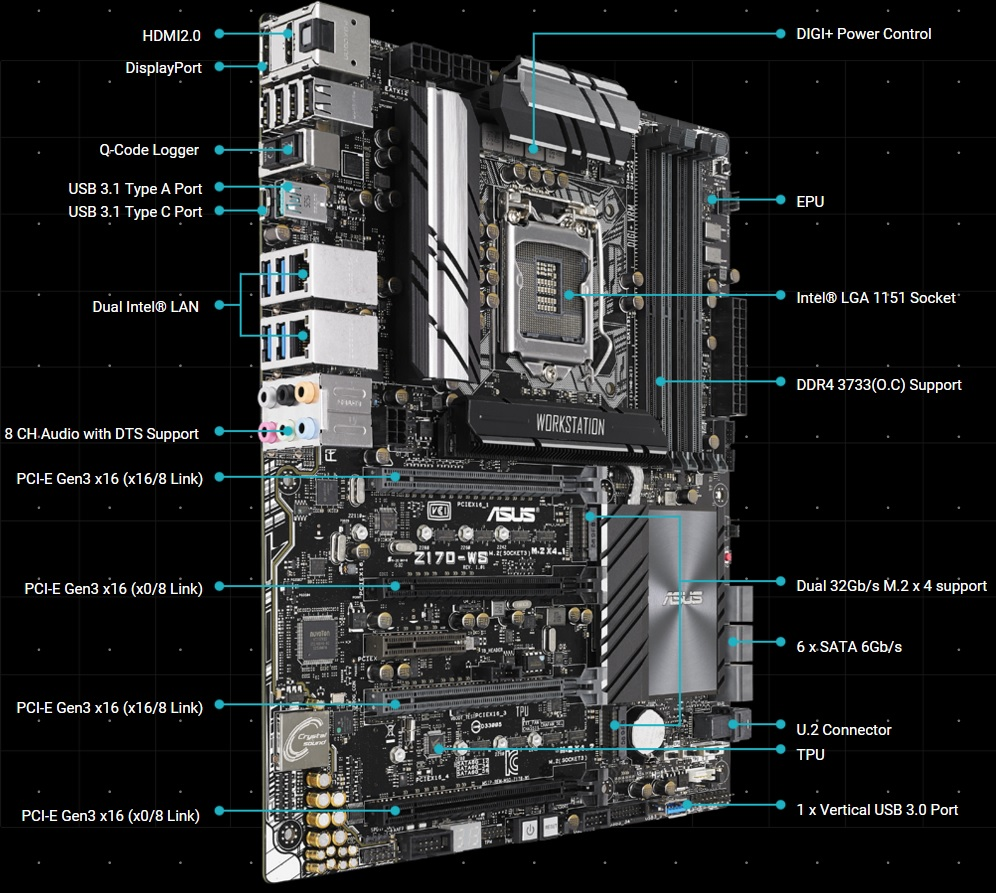 ASUS Z170 Workstation Motherboard