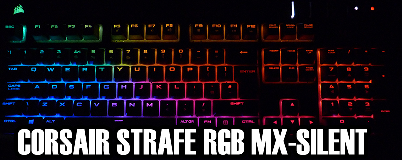 Corsair Strafe RGB MX-Silent Gaming Keyboard
