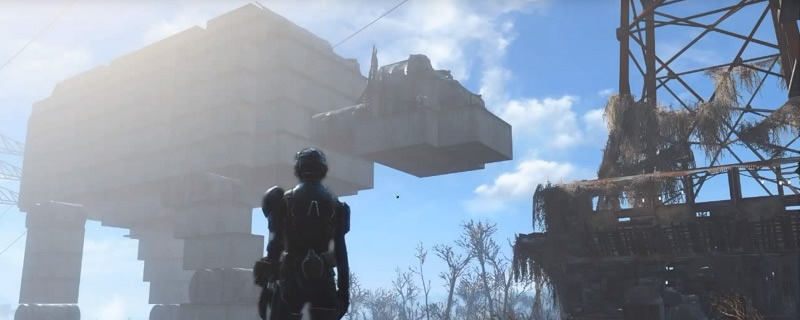 Fan builds an AT-AT in Fallout 4