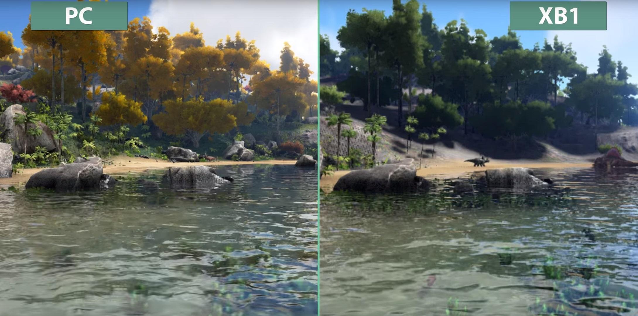 ark survival evolved pc vs xbox one graphics