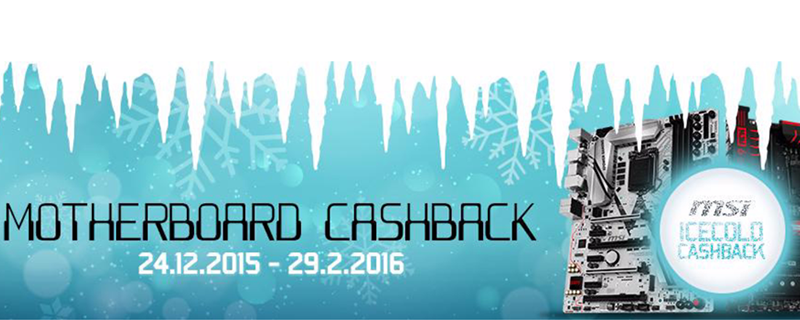 Get major cashback with the purchase of selected MSI motherboards