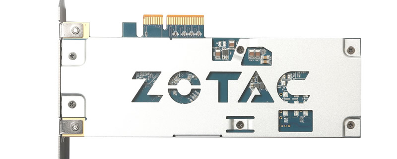 Zotac shows off a high end PCIe SSD