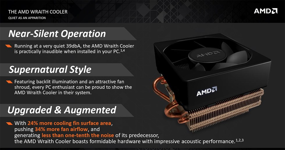 AMD have revealed their new Wraith CPU Stock Cooler