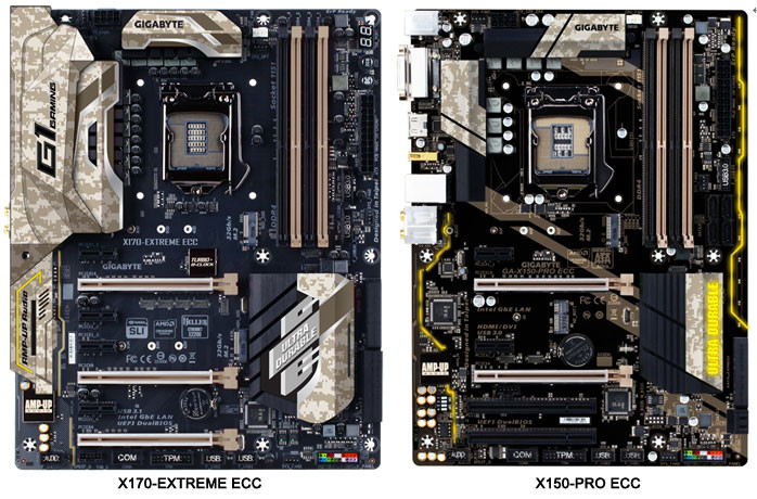 Gigabyte Launch Z170 and X150 motherboards for Xeon CPUs with ECC memory support