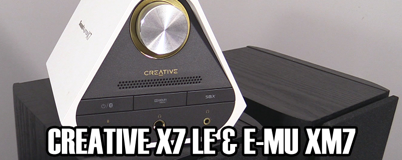 Creative X7 LE Amp and E-MU XM7 Bookshelf Speaker Review