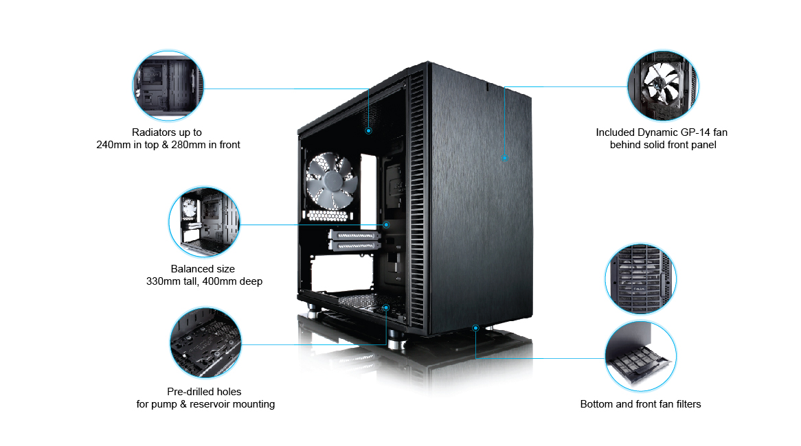 Fractal Define Nano S - Water cooling ITX