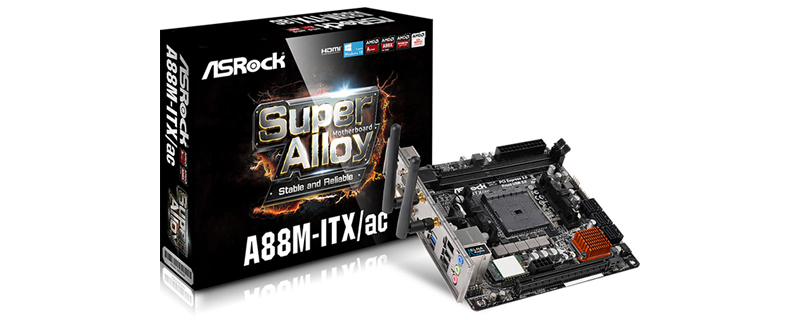 ASRock to launch new AMD A88M-ITX/ac ITX motherboard