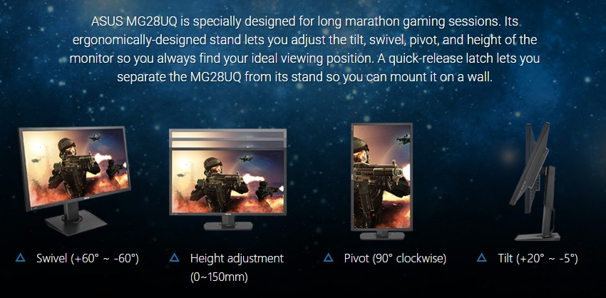 ASUS Unveils the MG28UQ 4K FreeSync Monitor