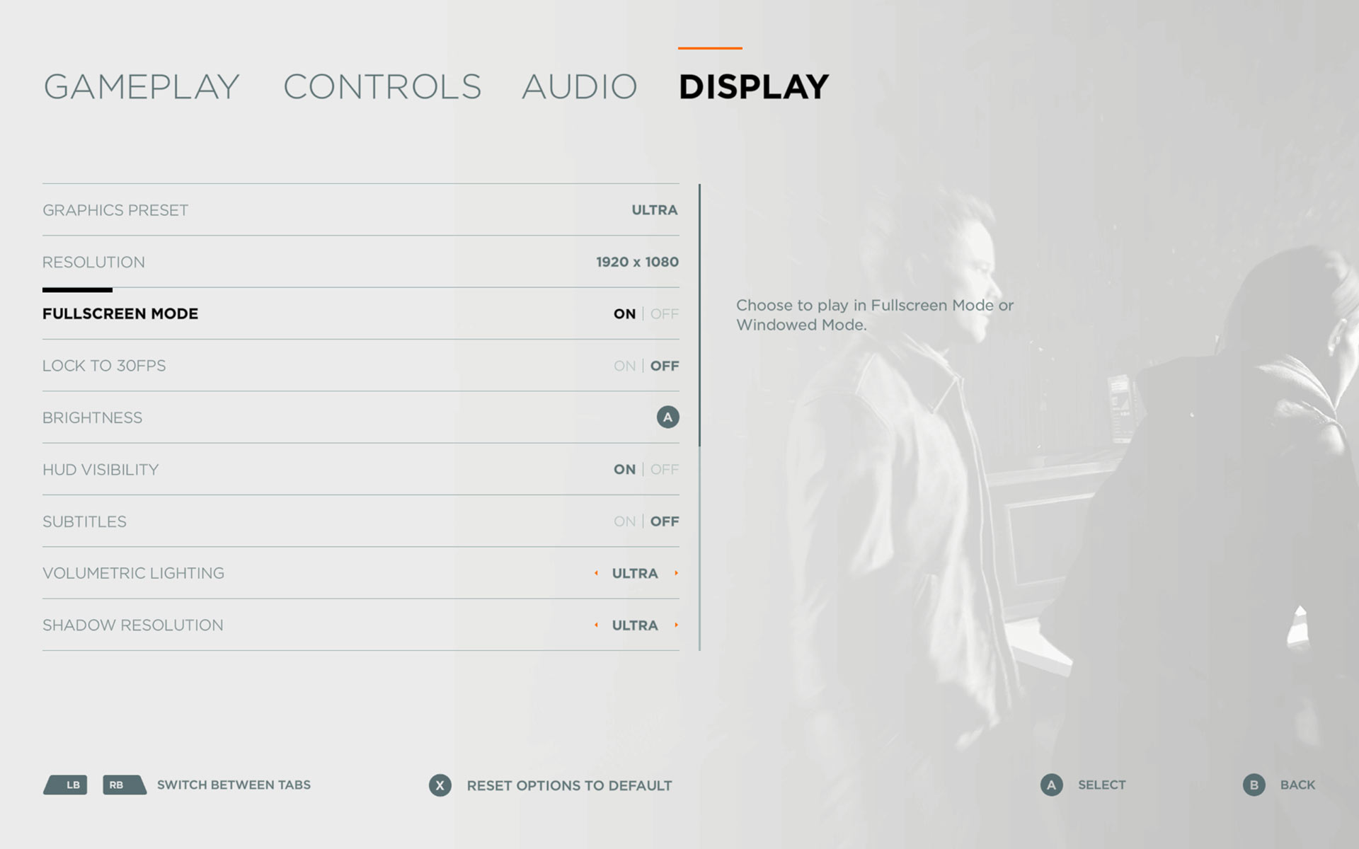 Quantum Break's PC Graphical Options Menu has officially been revealed