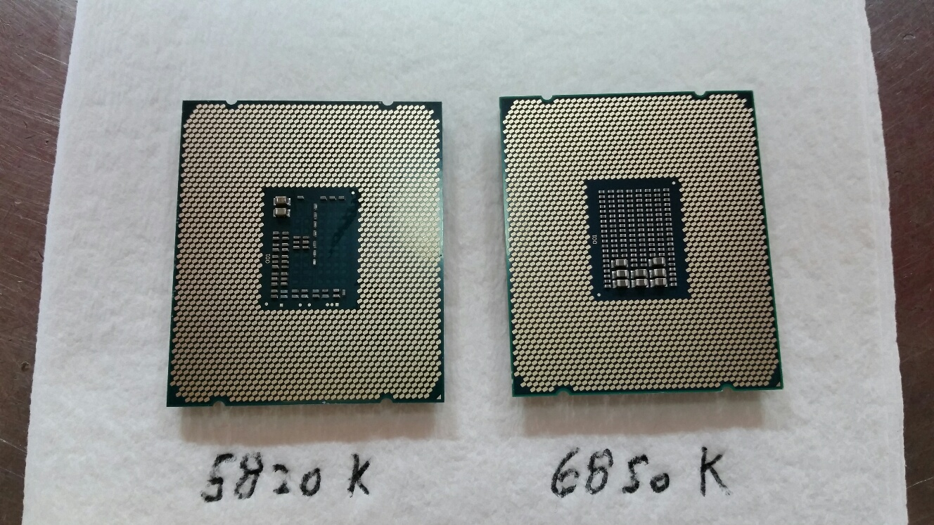 Intel Broadwell-E 6850K Pictured and benchmarked