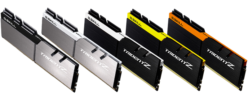 G.SKILL Introduces 5 New Color Schemes of Trident Z DDR4 memory