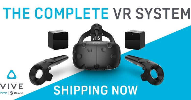 Vive is now shipping immediately from HTC