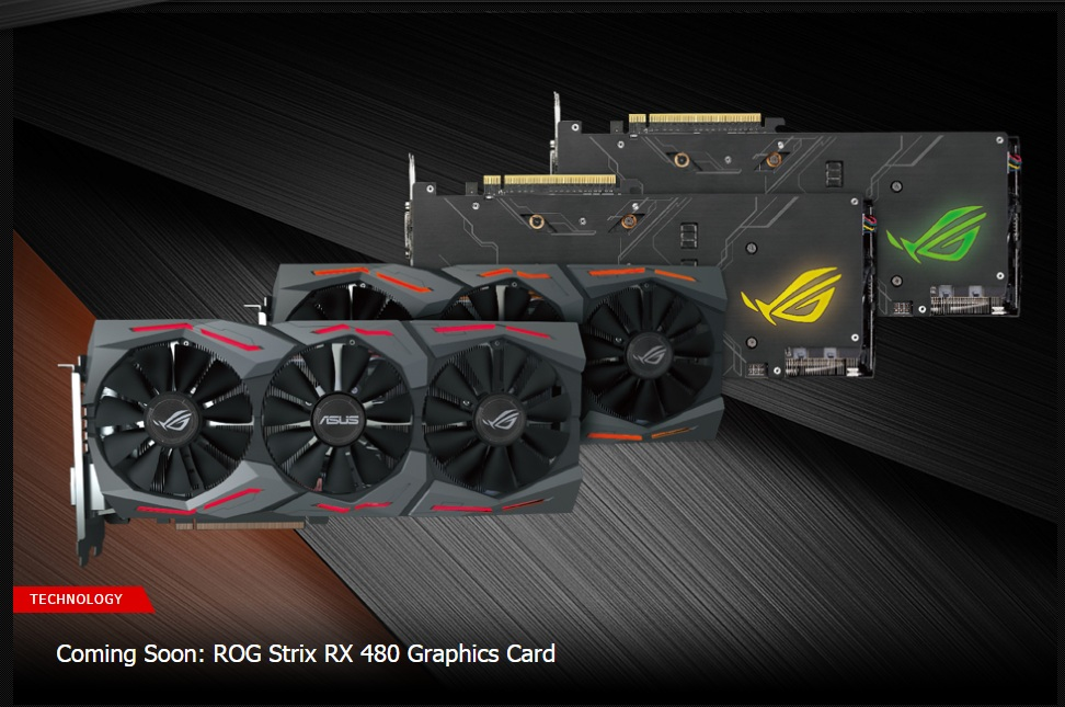 ASUS annouced their ROG Strix RX 480 GPU